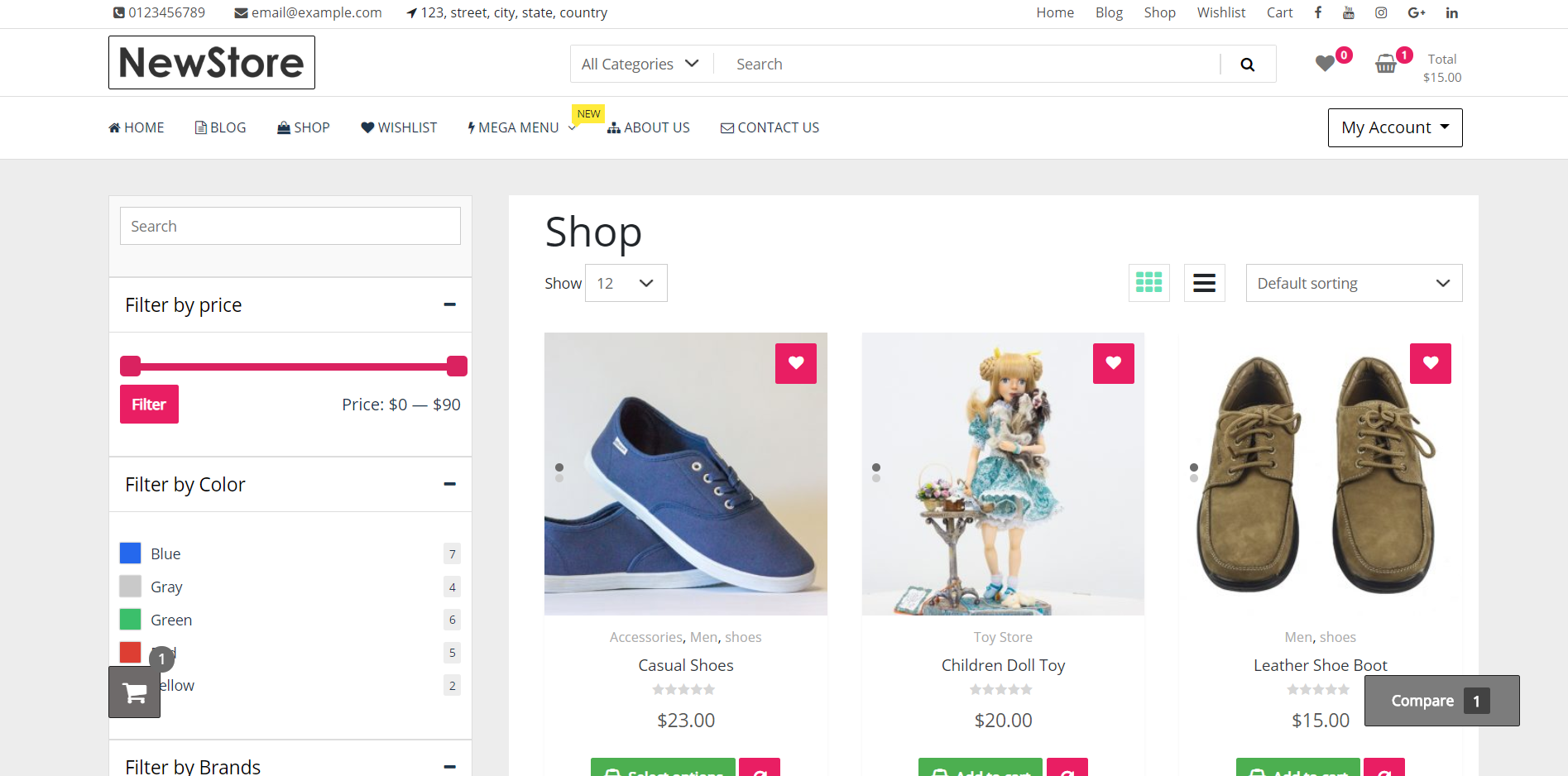 newstore-modern-woocommerce-shop-screenshot